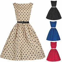 Womens Vintage Rockabilly Retro 50's 60's Pinup Swing Ladies Prom Party Dress