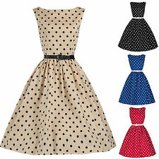 Women Vintage Rockabilly Retro Swing 50's 60's Pinup Housewife Prom Party Dress