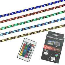 LED Home Theater TV BackLight Accent RGB Multi-Color Changing Strip Lighting Kit