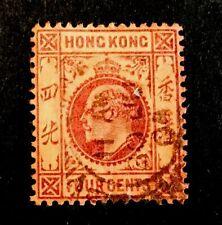 Hong Kong King Edward VII circa 1900's 4c VFU STAMP LH