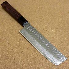 "Japanese Kitchen Nakiri Vegetable Knife 160mm 6"" Damascus 45 Layers From JAPAN"
