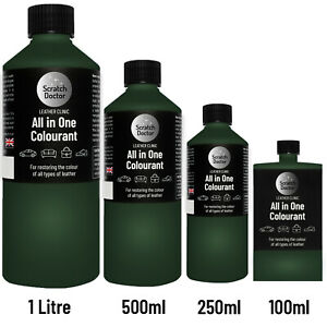 ALL IN ONE GREEN Leather Colourant. Repair, Recolour. Dye Stain Paint Colour