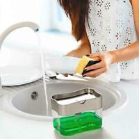 Kitchen Liquid Soap Pump Dispenser Sponge Holder Press DIY Home Tools K5L2