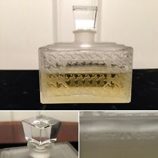 Vtg Christian Dior MISS DIOR-DIORAMA Perfume Frosted Crystal Glass Bottle 4 oz.