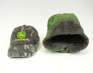 John Deere 4T/5T Toddler Size Baseball and Bomber Hats Green Farming Adjustable