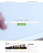 Established Simple Website Builder Script, 100% Automated, Instant Profit