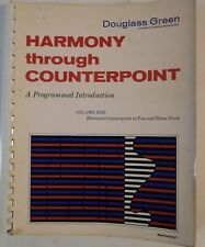 Harmony Through Counterpoint Vol One Douglass Green vintage book new century