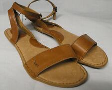 BOC Sandal tan Leather upper Ankle Strap Size 8 b.o.c arch support FREE SHIP NA