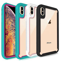 For iPhone X XS XR XS Max Hybrid Shockproof Dual Layer Design Armor Case Cover