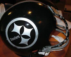 Pittsburgh Steelers Concept Decals Silver & Black Vintage Football Helmet(7 1/8)