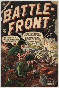Battle-Front #22 August 1954 VG- Teddy Roosevelt story
