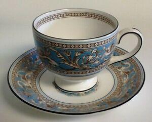 Tea Cup & Saucer Blue Florentine Wedgwood China & Dinnerware for sale | eBay