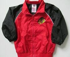 Chicago Blackhawks Toddler Zippered Jacket Lined Windbreaker Size 18 Months