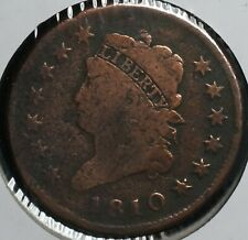 New Listing1810 Classic Head Large One Cent 1C Coin