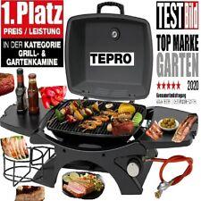 TEPRO Tisch-Gasgrill Abington Tischgrill Edelstahl EinBrenner Raclette Grill NEU