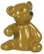 Mini Brown Bear, Dolls House Miniature, Nursery Baby Accessory, 1:12 Scale