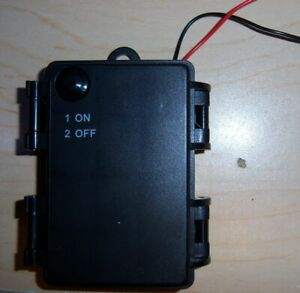 3 AA cell battery holder with on/off switch, IP65 waterproof USA