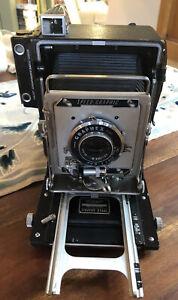 Vintage Graflex Speed Graphic 4x5 press camera with Extar 127 f4.7 Excellent