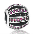 Silver Charm Bead Crystals Pave Fit 3mm European Authentic 925 Sterling Bracelet