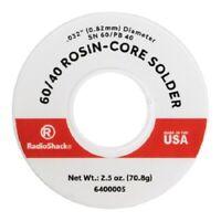 """RadioShack SnPb 60/40 Rosin-Core Solder - 0.032"""" / 2.5 oz. Catalog 6400005"""