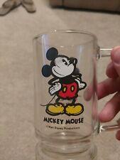 New listing Walt Disney Mickey Mouse Drinking Glass Mug Tumbler With Handle Vintage 12 oz