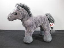 "ARABIAN HORSE Ganz Gray Webkinz No Code Stuffed Animal 9"" Toy Plush HM098 Grey"