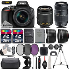 Nikon D3500 Digital SLR Camera + 18-55mm VR + 70-300mm + 64GB & More -4 Lens Kit