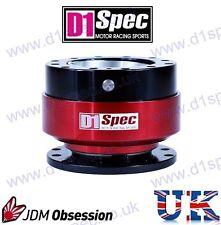 D1 Spec Universal Racing Volante de liberación rápida Negro/rojo Jdm deriva Rally