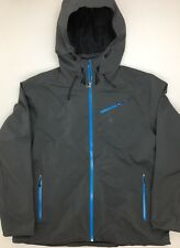NEW Spyder Men's FANATIC WINTER SKI JACKET Gray & Blue XXL