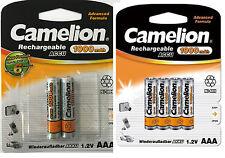 6 X AAA Akku 1,2V 1000 mAh MICRO NI-MH CAMELION für T-Sinus A40 Telefon Batterie
