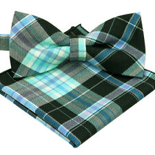 BRAND NEW MULTI-COLOR CHECKED UNUSUAL MEN/'S BOW TIE/&POCKET SQUARE SET B719