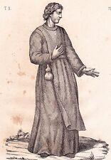 Portrait XIXe Hôtel Dieu Saint Jean Baptiste Beauvais Oise Frère Convers 1838