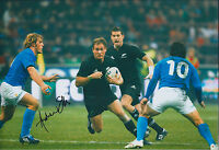 Andrew ELLIS Signed Autograph 12x8 Photo AFTAL COA RUGBY All Black New Zealand