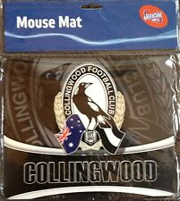 COLLINGWOOD MAGPIES AFL MOUSE PAD Mat Computer Or Look Unreal Framed Frame