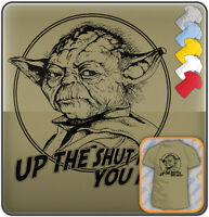 YODA Funny SLOGAN Retro MOVIE T-shirt. Men's Size Tee: S M L XL XXL