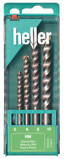 HELLER 4 pezzi Speed 3015 in Muratura Drill Bit Set 5mm - 10mm Alta Qualità Tedesca