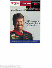 2004 MIKE SKINNER TOYOTA DAYTONA SPEED WEEKS NASCAR BB POSTCARD