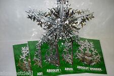 5x ABSOLUT VODKA WONDER SNOWFLAKE ORNAMENT MYLAR CHRISTMAS/NEW YEARS PARTY DECOR