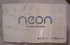 **LOOK** 1996 Dodge Neon Owners Manual 96