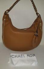Michael Kors Lauryn Acorn Brown Large Leather Shoulder Hobo  Handbag Purse NWT