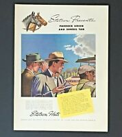 1938 Stetson Hat Advertisement Horse Racing Paddock Original Vintage Print AD