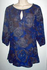 WOMENS TUNIC SIZE 2X MULTI COLOR SHEER NEW LOW SHIP