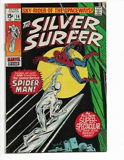 SILVER SURFER 14 - QUALIFIED VF- 7.5 - SPIDER-MAN CROSSOVER (1970)