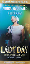 LADY DAY – AUDRA MCDONALD is BILLIE HOLIDAY – FLYER WYNDHAMS THEATRE LONDON 2016