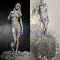 Poison Ivy Unpainted 1/24 Beauty Woman Resin Figure Model Kit Unassembled 75MM