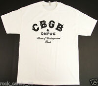 CBGB OMFUG T-shirt Punk Rock CBs Underground Tee Adult Men's White New