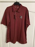 NWT Antigua Golf XL NCAA Football Florida State Seminoles Golf Shirt