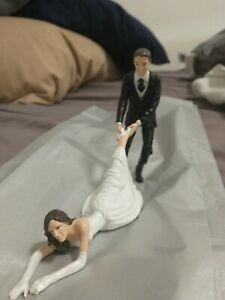 New Wedding Cake Topper Reluctant Bride from Accoutrements Dragged by Heel to