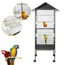 "Pet Bird Cage Metal Large Capacity Parrots Macaw Cockatiel Nest Supplies 63"""