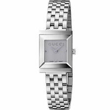 Stainless Steel Band Analogue Square Wristwatches